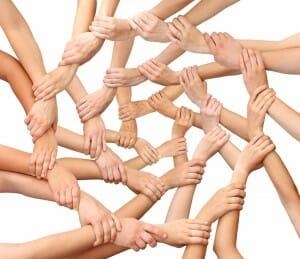 red de manos