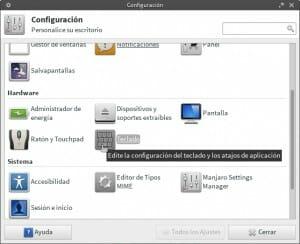 Atajo teclado Xfce paso 1
