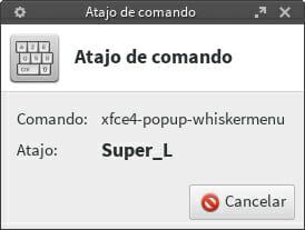 Atajo teclado Xfce paso 4