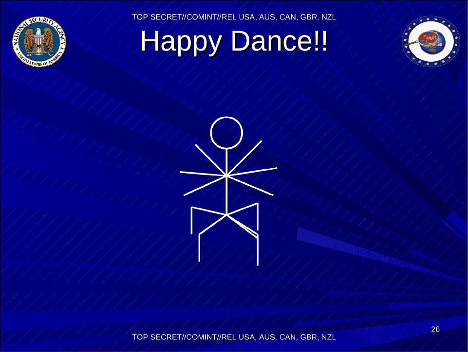 Bailemos el happy dance!