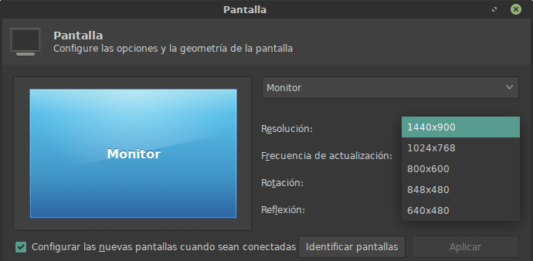 nueva resolucion monitor